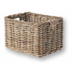 BASIL RATTAN BASKET COLLECTION Nature Grey Medium